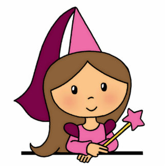 Cute Cartoon Clip Art Princess in a Pink Dress Cutout