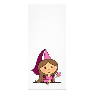 Cute Cartoon Clip Art Princess in a Pink Dress Custom Rack Card