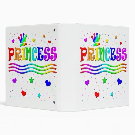 Cute Cartoon Clip Art Rainbow Princess Tiara 3 Ring Binder
