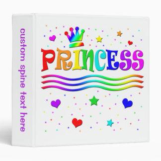 Cute Cartoon Clip Art Rainbow Princess Tiara Vinyl Binders