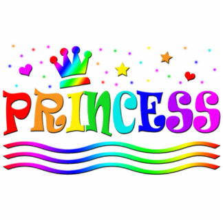Cute Cartoon Clip Art Rainbow Princess Tiara Cutout