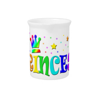 Cute Cartoon Clip Art Rainbow Princess Tiara Drink Pitcher