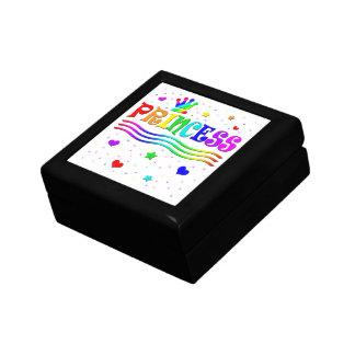 Cute Cartoon Clip Art Rainbow Princess Tiara Gift Box