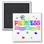Cute Cartoon Clip Art Rainbow Princess Tiara Fridge Magnet