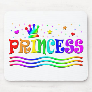 Cute Cartoon Clip Art Rainbow Princess Tiara Mouse Pad