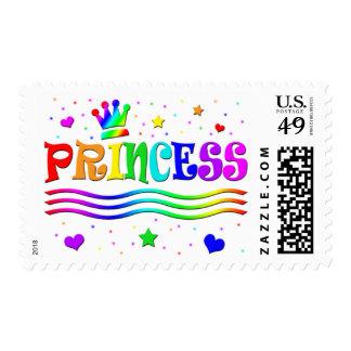 Cute Cartoon Clip Art Rainbow Princess Tiara Postage