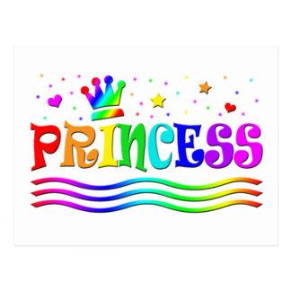 Cute Cartoon Clip Art Rainbow Princess Tiara Post Cards
