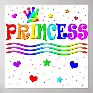 Cute Cartoon Clip Art Rainbow Princess Tiara Poster