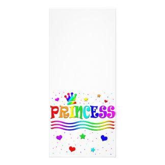 Cute Cartoon Clip Art Rainbow Princess Tiara Personalized Rack Card