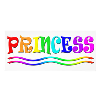 Cute Cartoon Clip Art Rainbow Princess Tiara Rack Card Template