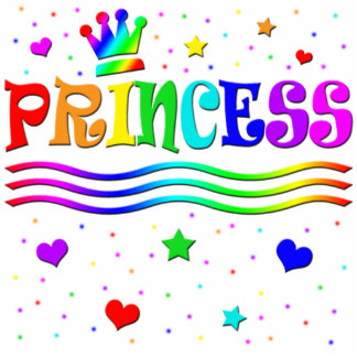 Cute Cartoon Clip Art Rainbow Princess Tiara Statuette