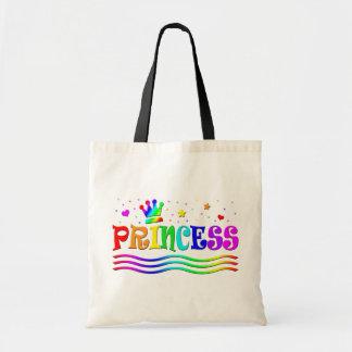 Cute Cartoon Clip Art Rainbow Princess Tiara Tote Bag
