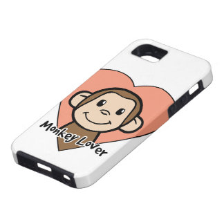 Cute Cartoon Clip Art Smile Monkey Love in Heart iPhone SE/5/5s Case