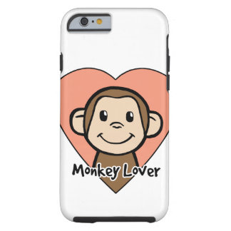 Cute Cartoon Clip Art Smile Monkey Love in Heart iPhone 6 Case