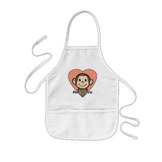 Cute Cartoon Clip Art Smile Monkey Love in Heart Kids' Apron