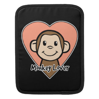 Cute Cartoon Clip Art Smile Monkey Love in Heart Sleeve For iPads