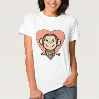 Cute Cartoon Clip Art Smile Monkey Love in Heart T Shirt