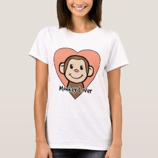 Cute Cartoon Clip Art Smile Monkey Love in Heart T-Shirt