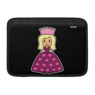 Cute Cartoon Clipart Pink Princess Hearts Dress MacBook Air Sleeve