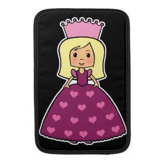 Cute Cartoon Clipart Pink Princess Hearts Dress MacBook Sleeve