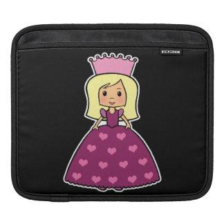 Cute Cartoon Clipart Pink Princess Hearts Dress Sleeve For iPads