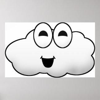 Cute Cartoon Cloud Poster