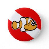 Clownfish Anemonefish Scuba Diver Flag