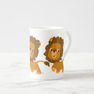 Cute Cartoon Content Lion Bone China Mug