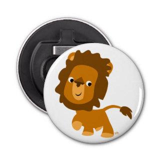 Cute Cartoon Content Lion Button Bottle Opener