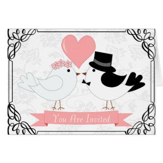 Cute cartoon couple card