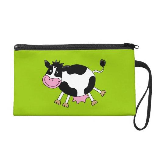 Cute cartoon cow wristlets