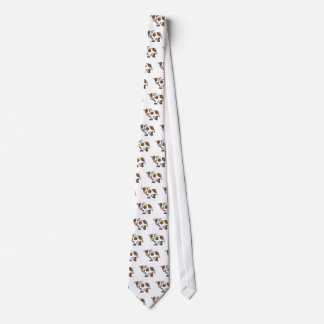 Cute Cartoon Cow Brown and White Tie