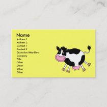 Cute cartoon cow business card