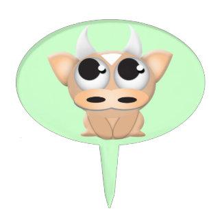 Cute Cartoon Cow Cake Topper