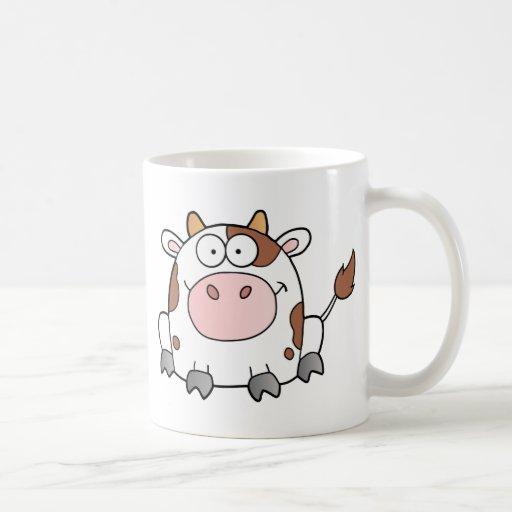 Cute Cartoon Cow Classic White Coffee Mug