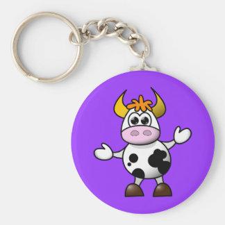 Cute Cartoon Cow Keychain