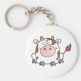 Cute Cartoon Cow Keychain