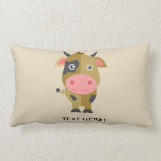 Cute Cartoon Cow Lumbar Pillow