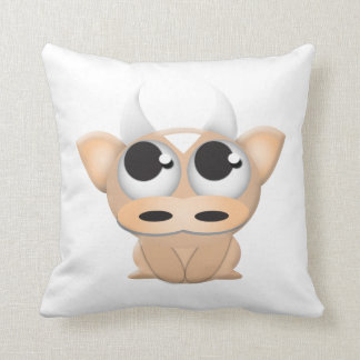 Cute Cartoon Cow Throw Pillow