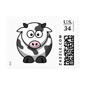 Cute Cartoon Cow Stamp