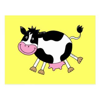 Cute cartoon cow postcard