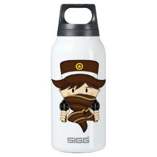 Cute Cartoon Cowboy Insulated Water Bottle