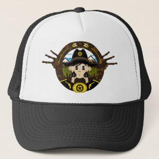Cute Cartoon Cowboy Trucker Hat