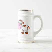 Cute Cartoon Cows Beer Stein