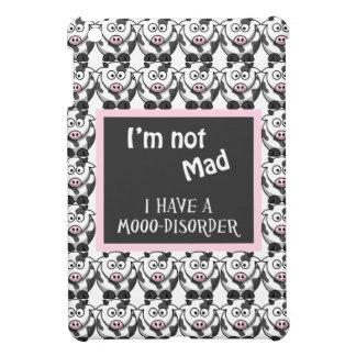 Cute Cartoon Cows Not Mad, I Have A Moo Disorder iPad Mini Cases