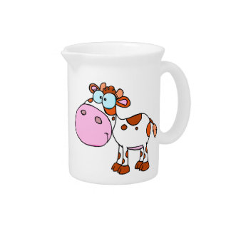 Cute Cartoon Cows Pitcher