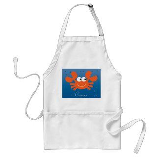 Cute Cartoon Crab Cancer Zodiac Sign Custom Apron