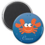 Cute Cartoon Crab Cancer Zodiac Sign Custom Refrigerator Magnet