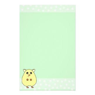 Cute Cartoon Cream Hamster Mint Stationery