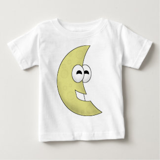 Cute Cartoon Crescent Moon Baby T-Shirt